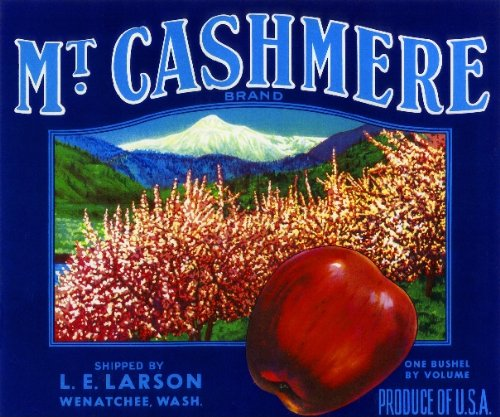 Wenatchee Washington Mt. Cashmere Apple Fruit Crate Box Label Art Print (Apple Washington Label)
