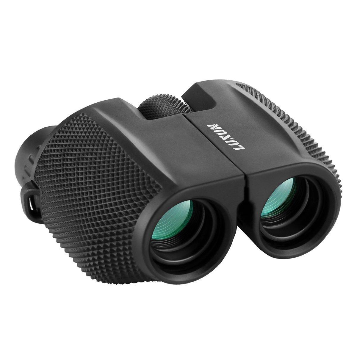 Compact Binoculars, SGODDE 10x25 Waterproof Binocular - Large Eyepiece,Super High Powered Field,Low Light Night Vision Prism Binoculars for Bird Watching Outdoor Shooting Travelling Adults Kids