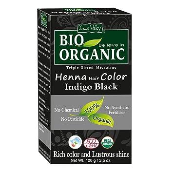 Amazon Com Indus Valley 100 Organic Indigo Black Henna Hair Color