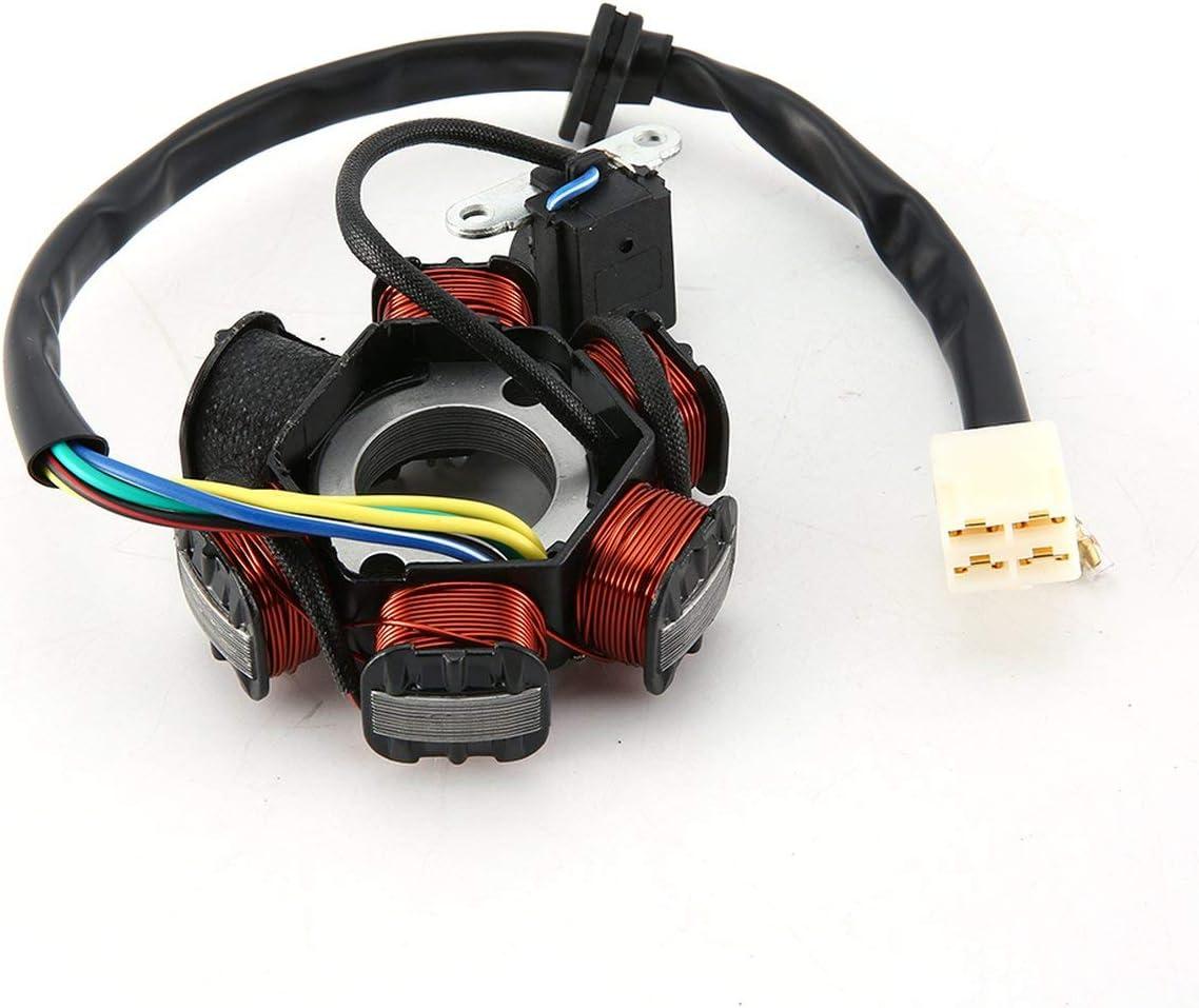 YUIO/® Moto 6 bobines Wire Wave AC Magneto Stator G/én/érateur de bobine pour 50cc 70cc 90cc 100cc 110cc 125cc Dirt Bike multicolore