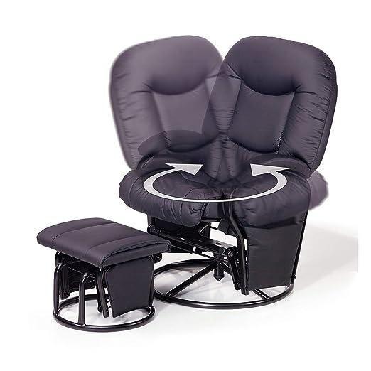 Hauck Metall-Glider Recline Stillstuhl und Entspannungsstuhl 360° drehbar