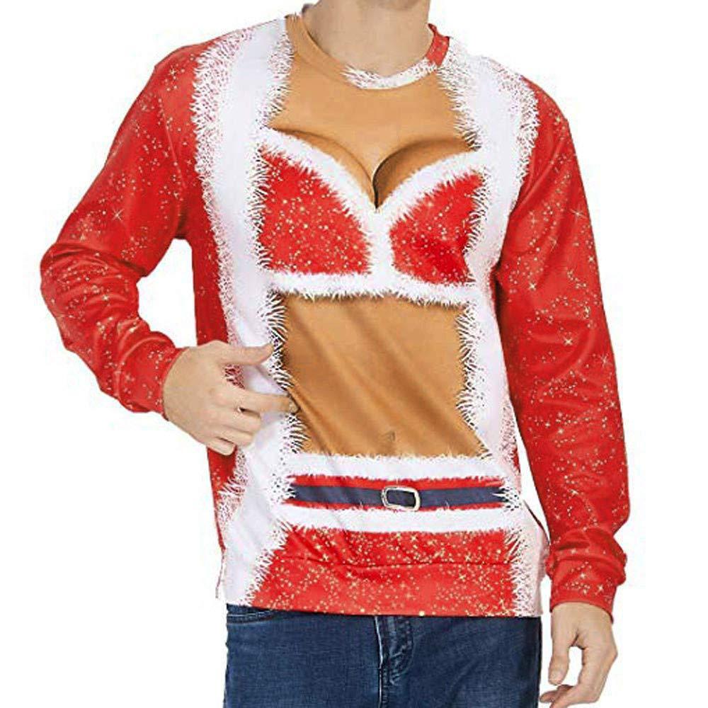 ALISIAM Amantes Moda Casual Otoño Invierno Navidad Impresión 3D ...