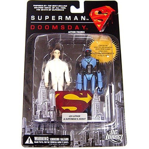 DC Direct: Superman/Doomsday Lex Luthor and Superman Robot Action Figure 2-Pack