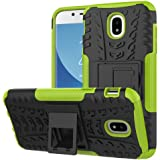 For Samsung Galaxy J5 Pro 2017 / J5 2017 Heavy Duty Tough Kickstand Strong Case Cover (Green)