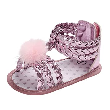 Newest Sandals For Infant Newborn Baby Girls Hair Ball Soft Sole Princess Summer  Shoes Toddler First a12733650e6f