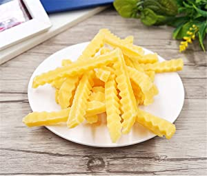 Zzooi Artificial Faux French Fries Realistic Look Fake Chips Display Model 10PCS
