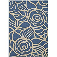 Safavieh Courtyard Collection CY5141C Blue and Beige Indoor/ Outdoor Area Rug (9 x 12)
