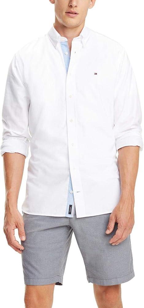 Tommy Hilfiger Camisa Organic Oxford Blanco Hombre S Blanco: Amazon.es: Ropa y accesorios