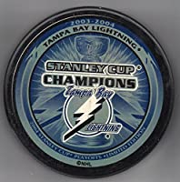 Tampa Bay Lightning 2004 Stanley Cup Champions Official NHL Puck + FREE Puck Cube