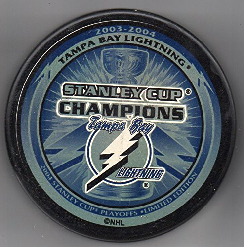 Tampa Bay Lightning 2004 Stanley Cup Champions Official NHL Puck + FREE Puck ()