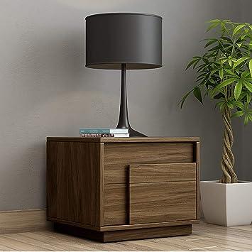 Modern Holz Nachttisch Einfach Multifunktion Mit Schublade Lagerung