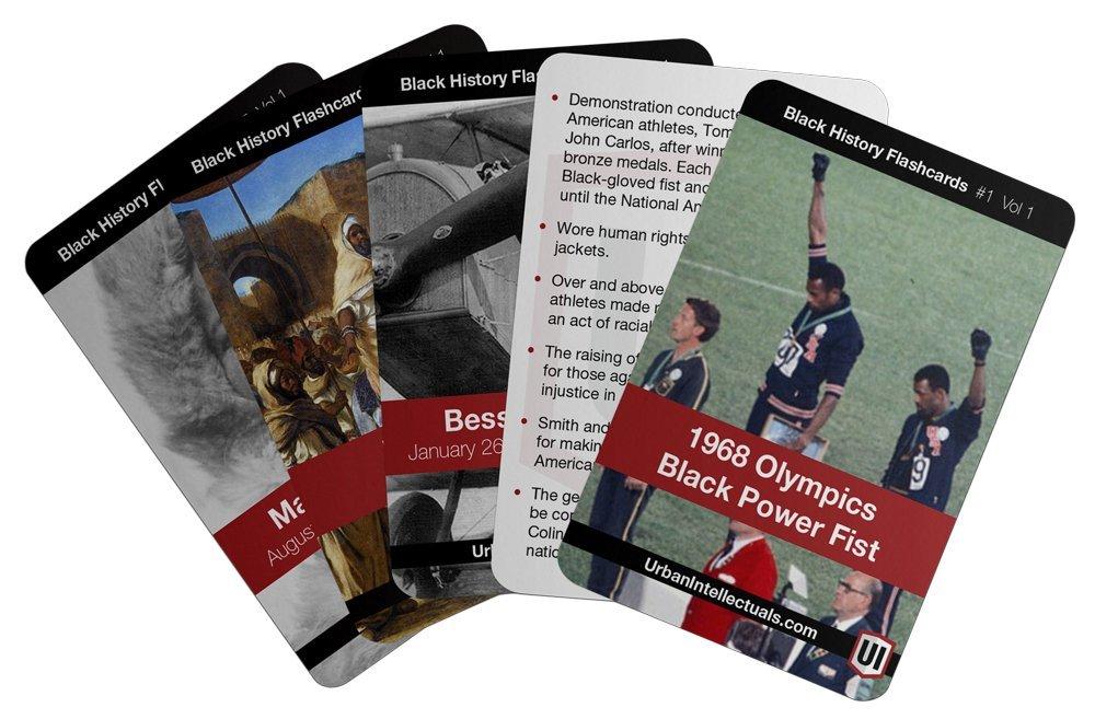 Urban Intellectuals Black History Flashcards (52 Educational Card Deck) (Volume 1)