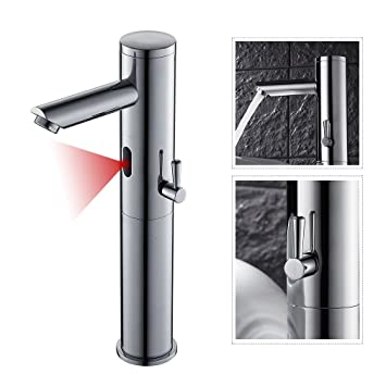 Touchless Sink Bathroom Faucet Kitchen Sensor Tap With Hot And Cold Water  Mixer Single Handle Single