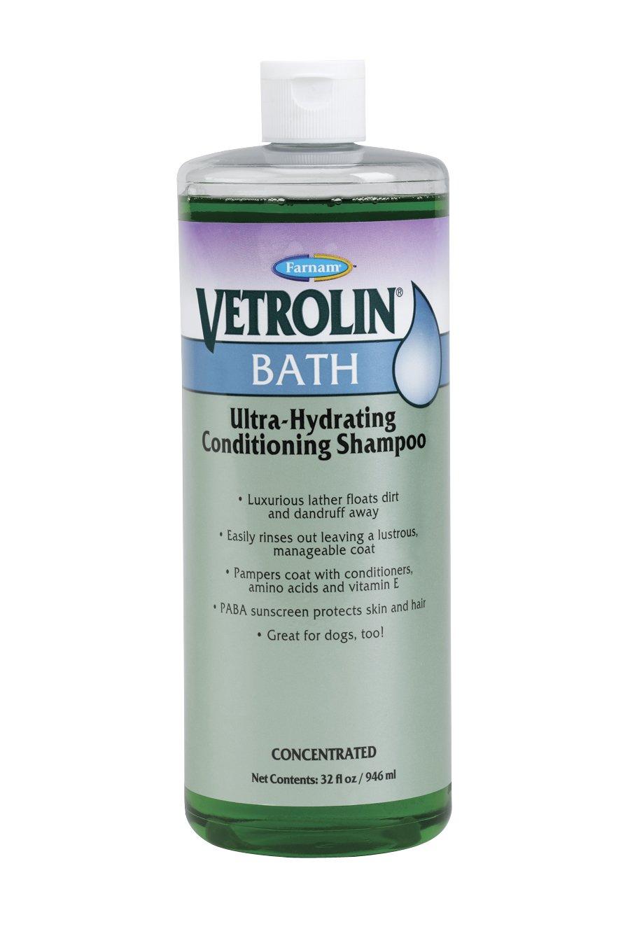 Farnam 80305 Vetrolin Pet Bath Shampoo, 32-Ounce