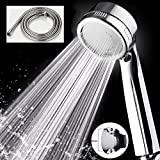 Uforme High Pressure Water-Saving Ionic Filter Handheld Spray Shower Head Massage Rainfall Shower Nozzle Set for Shower (Item with Hose&Holder)