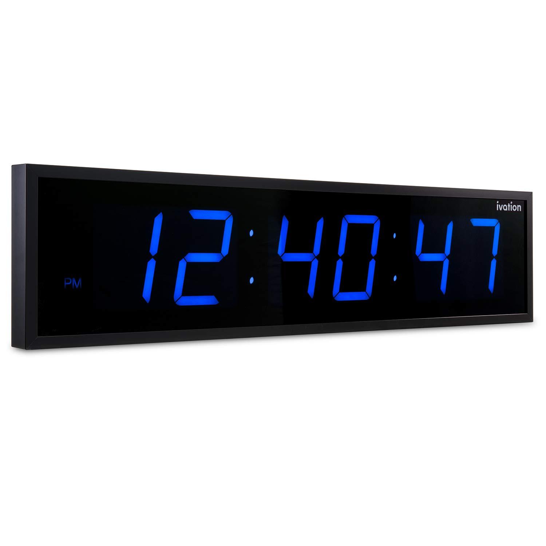DBTech 0124BLU Huge Large Big Oversized Digital LED Clock Blue