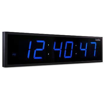 Amazon.com: Ivation, 0136BLU, enorme reloj digital LED ...