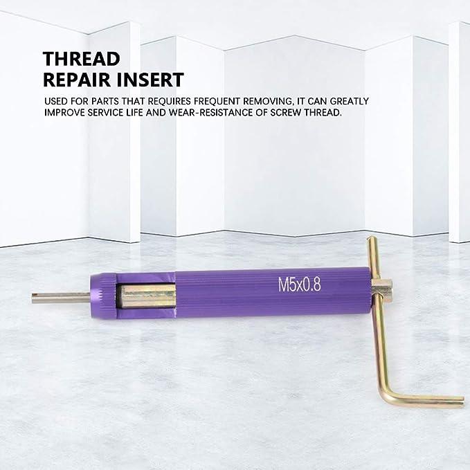 Kit de instalación de reparación de rosca 50 piezas Juego de tipo helicoidal de acero inoxidable M5 x 2D: Amazon.es: Bricolaje y herramientas