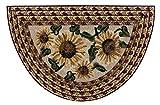 Brumlow Mills Sunflower Braid Kitchen Rug, 19-Inch by 31-Inch, Sunset For Sale