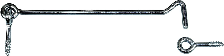 SN-TEC Sturmhaken//Lukenhaken /Überwurf verzinkt mit /Öse L/änge von 30 bis 500mm zur Auswahl 5, L/änge: 100mm Mengen- und L/ängenauswahl m/öglich