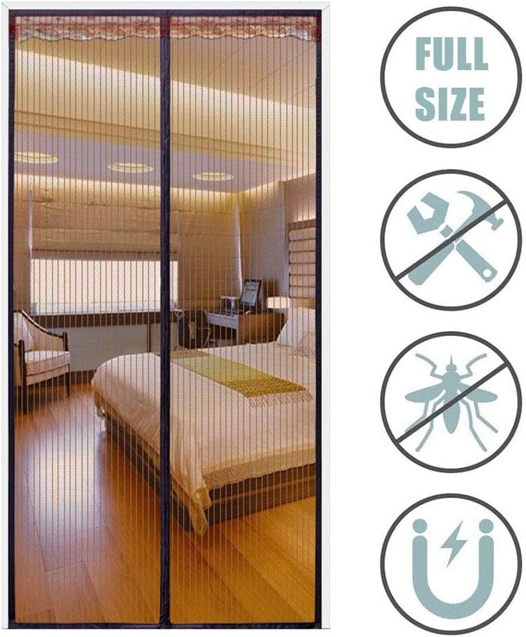 Mosquitera magn/ética para puerta con mosquitera para verano ideal para el hogar