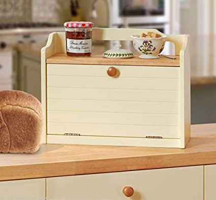 Great Ideas Wooden Bread Bin Wood Bread Box With Front Opening Door And Top Shelf