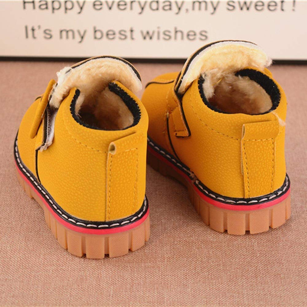 Lurryly❤Snow Boots,Baby Boys Girls Leather Soft Sole Warm Winter Thick Shoes Boots 1-6 T