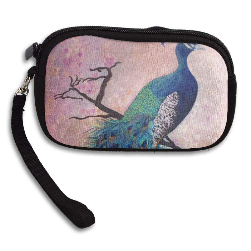 HACVREQ Unisex Personalized Wallet,Elegant Peacock Purse Bag Woman Ladies Men Gentlemen
