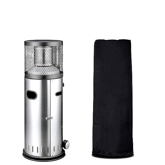 Calentador de patio Enders Polo 2.0 - Con calentador de gas, incluye Cubierta de protección contra el clima - calentador de patio de acero inoxidable con ...