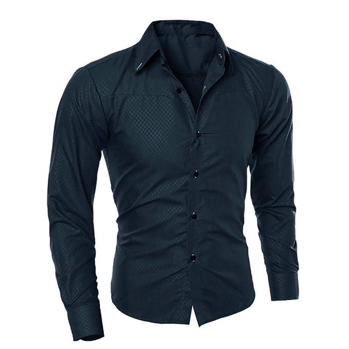 Camisas de Hombre-Chaquetas Hombre/Abrigos Moda Blusa Estampada Casual Manga Larga Camisas Delgadas Tops: Amazon.es: Ropa y accesorios