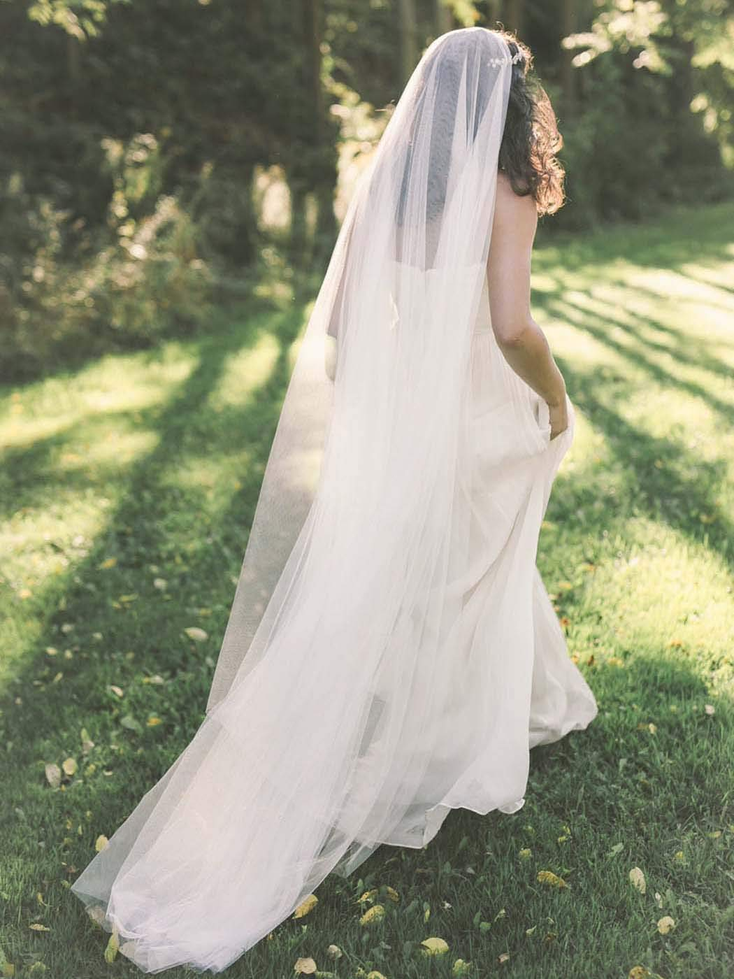 Ivory Wedding Veil \u2022 Ivory Lace Wedding Veil \u2022 Lace Around Train Veil \u2022 Floor Length Veil \u2022 Chapel Length Veil \u2022 Cathedral Length Veil