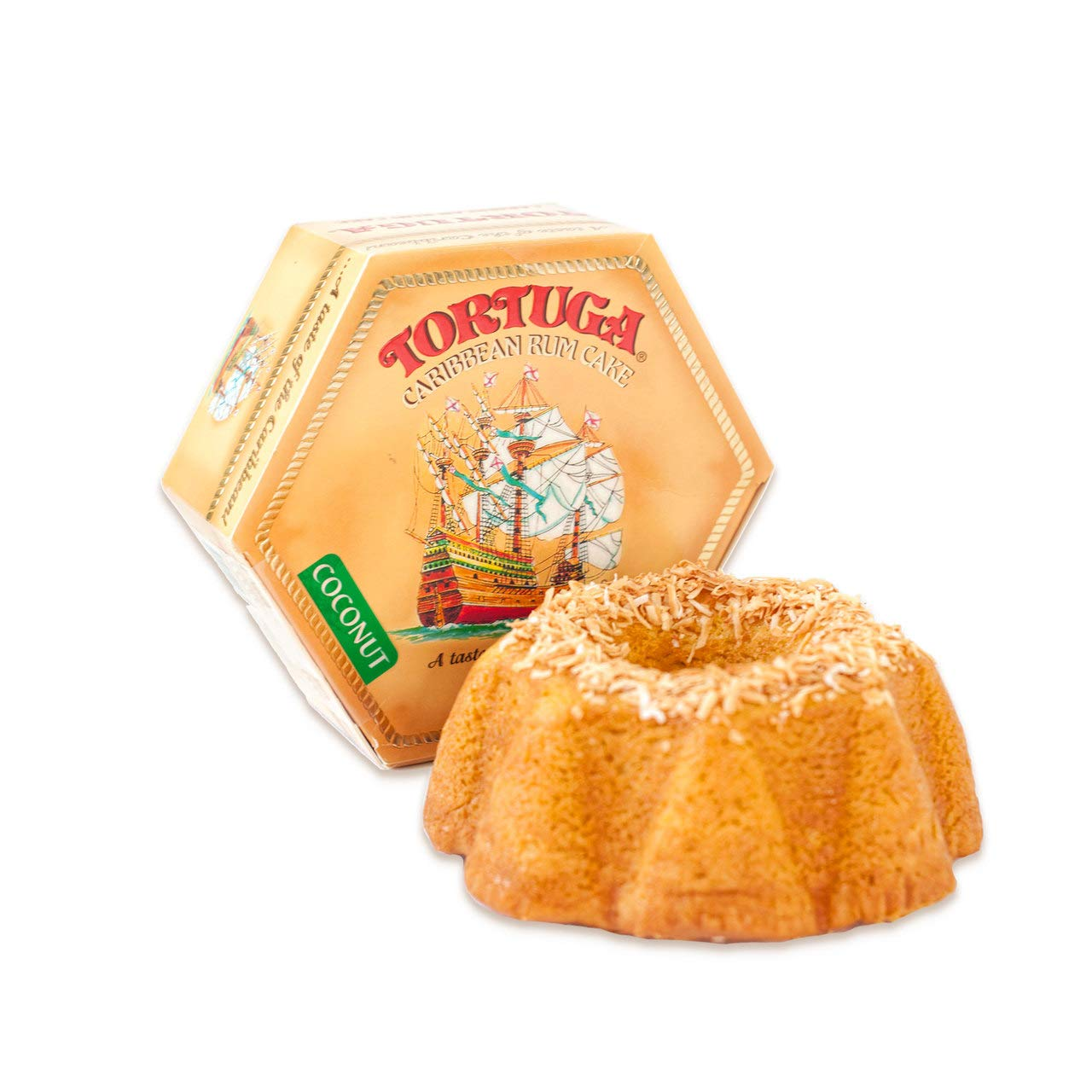 TORTUGA Caribbean Coconut Rum Cake - 4 oz Rum Cake - The Perfect Premium Gourmet Gift for Gift Baskets, Parties, Holidays, and Birthdays