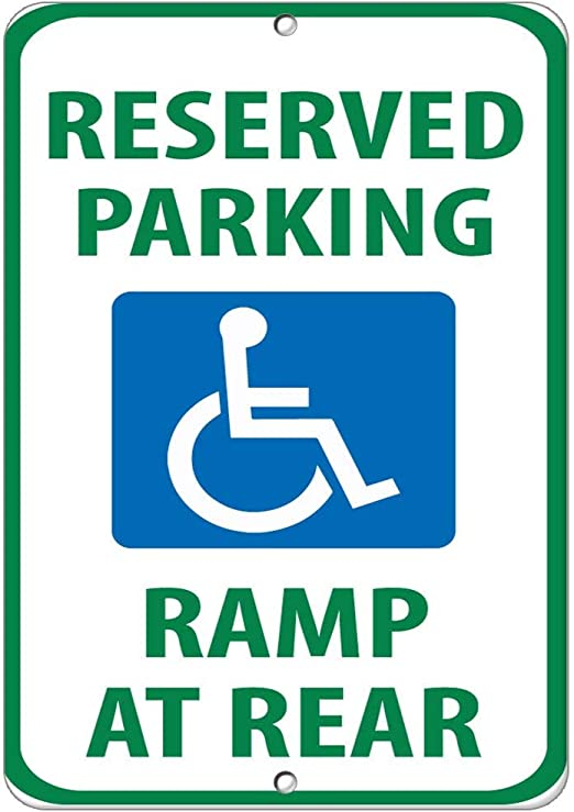 """JAMES Parking Only Aluminum Sign 8/""""x12/"""" with mounting holes metal new"""