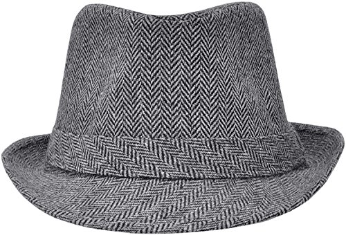 3c95ffdbe139e Simplicity Men s   Women s Manhattan Structured Gangster Trilby Wool Fedora  Hat