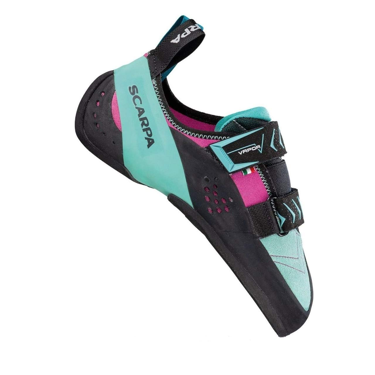 SCARPA Vapor V Climbing Shoe - Women's Dahlia/Aqua 37.5 by SCARPA