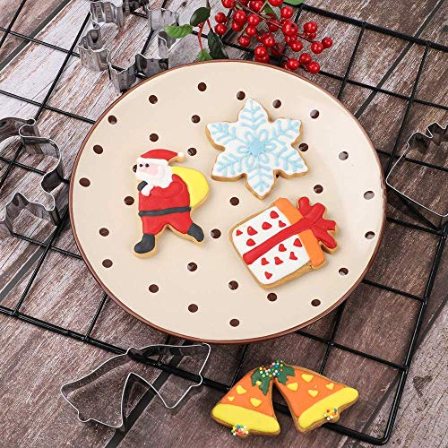 8 Large and 6 Small Parent-Child Biscuit Molds Reindeer Gingerbread Men Christmas Tree Jingle bell VHAUSE 14PCS Christmas Cookie Cutters Stainless Steel Angel and Glove Snowman Snowflake