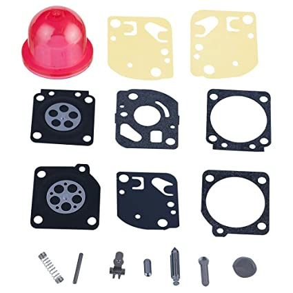 HIPA Carburetor Rebuild Kit with Primer Bulb for ZAMA Carbs Ryobi Ryan IDC  Homelite # RB-29