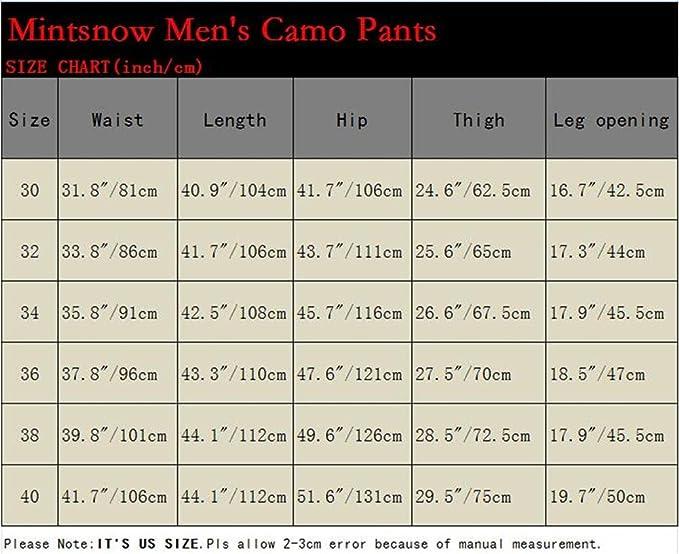 Amazon.com: mintsnow Mens Casual Camuflaje Caza Camuflaje ...
