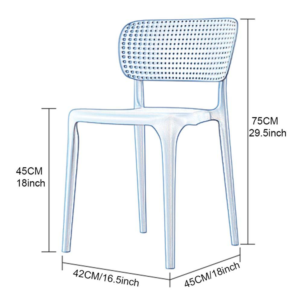 Set med 4 köksstol vardagsrumsstol matstol – stapelbar – med ryggstöd kaffestol barstol kontor mottagningsstol konferensstol – Nordeuropa modern (höjd: 75 cm) Vitt