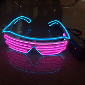 3Paar Fashion DJ LED-Brille Konzert Partybrille Sonnenbrille+EL LED ...