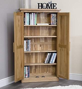 arden solid oak furniture cd dvd cabinet cupboard amazon co uk rh amazon co uk  sherwood oak dvd/cd storage cabinet