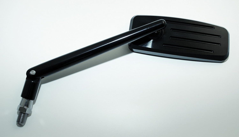 schwarz verstellbarer Stiel CNC-Spiegel ACTION
