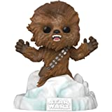 Funko Pop! Deluxe Star Wars: Battle at Echo Base Series - Flocked Chewbacca Vinyl Figure, Amazon Exclusive, Figure 3 of…