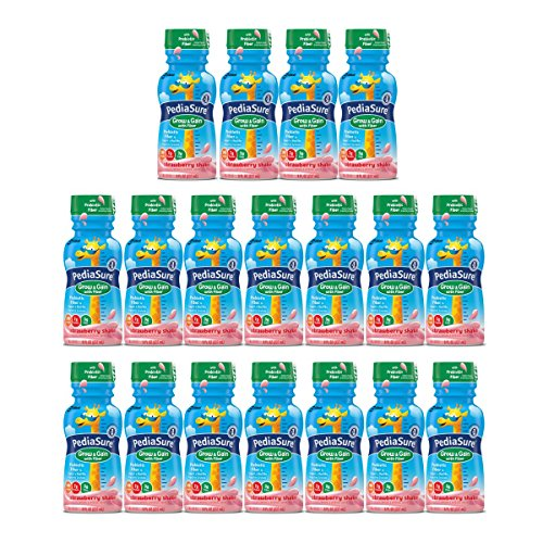 Strawberry Gains Real - PediaSure Grow & Gain with Fiber Nutrition Shake For Kids, Strawberry, 8 fl oz (Pack of 18)