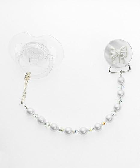 Crystal Dream Elegante cristales blancos y perlas de ...