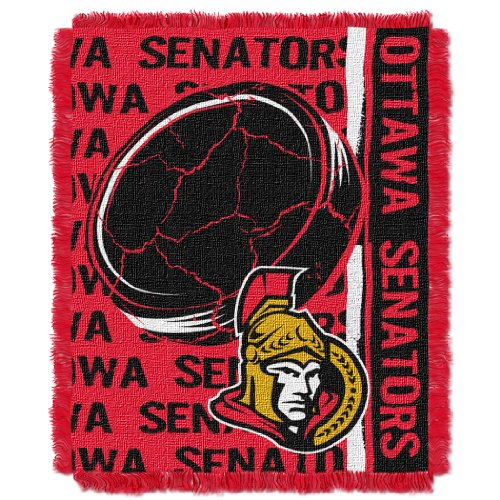 The Northwest Company Officially Licensed NHL Ottawa Senators Double Play Jacquard Throw Blanket, 48
