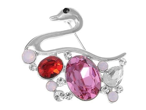 Amazon com: Alilang Ruby Rose Pink Colored Swan Bird