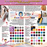 GERCUTTER Store: 6 yards SISER GLITTER + 3 yards SISER EASYWEED Heat Transfer Vinyls on Cotton or Polyester Mesh and Poly-blend Fabrics (Mix & Match your favorite colors)