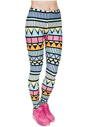 5137ece4e1e90 Ayliss Women Leggings Digital Print Yoga Skinny Pants High Waist Gym Elastic  Tights