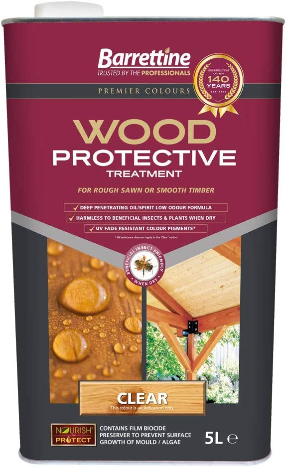Nourish & Protect PTCL005 5 L Wood Protective Treatment Clear,